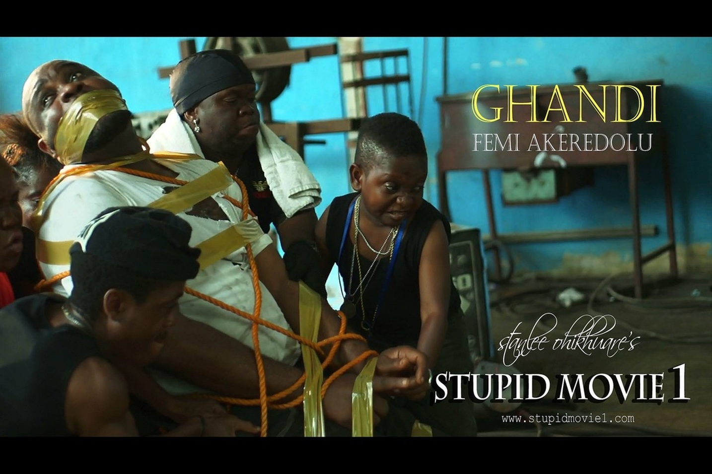 (STUPID MOVIE CAST)  FEMI AKEREDOLU AS GHANDI