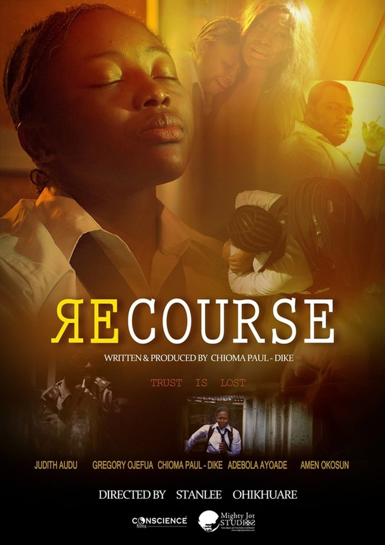 RECOURSE POSTER - Directed by STANLEE OHIKHUARE  & WRITTEN/PRODUCED BY CHIOMA PAUL - DIKE.